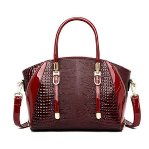 Cottonwood Ladies' Leather Fashion Hand and Shoulder Bag Red Premium Leather