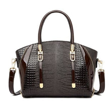Load image into Gallery viewer, Cottonwood Ladies' Leather Fashion Hand and Shoulder Bag Coffee Premium Leather