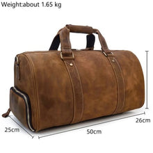 Load image into Gallery viewer, Crazy Horse Authenic Leather Travel Bag Carry on Luggage Premium Leather