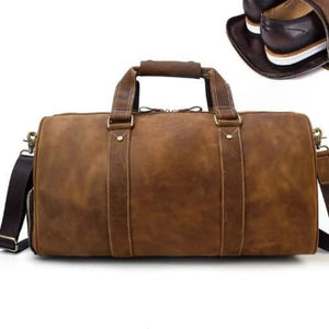 Crazy Horse Authenic Leather Travel Bag Carry on Luggage Premium Leather