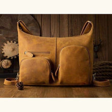 Load image into Gallery viewer, Crazy Horse Leather Backpack & Messenger Bag Premium Leather