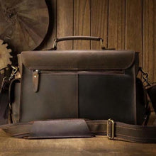 Load image into Gallery viewer, Crazy Horse Leather Messenger Bag