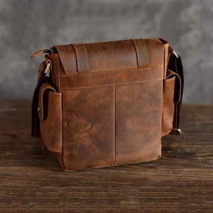 Crazy Horse Leather Messenger/satchel Bag Premium Leather