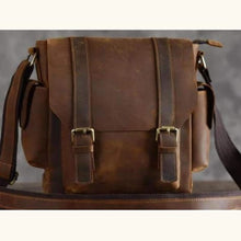 Load image into Gallery viewer, Crazy Horse Leather Messenger/satchel Bag Premium Leather
