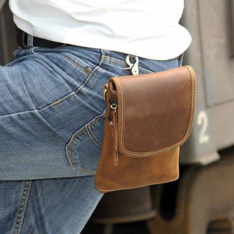 Crazy Horse Leather Mini Satchel