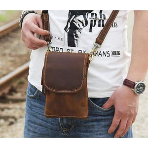 Crazy Horse Leather Mini Satchel Premium Leather