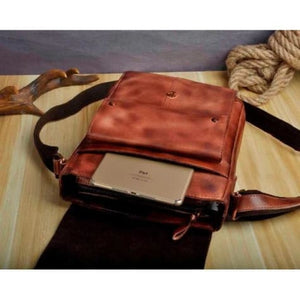 Crazy Horse Leather new Crossbody Messenger Bag Premium Leather