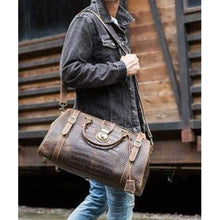 Load image into Gallery viewer, Crazy Horse Leather Shoulder Duffel & Travel Bag Premium Leather