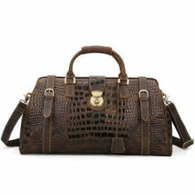 Load image into Gallery viewer, Crazy Horse Leather Shoulder Duffel & Travel Bag