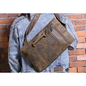 Crazy Horse Leather Shoulder & Satchel Bag Premium Leather