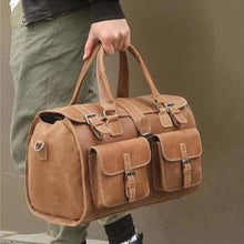 Load image into Gallery viewer, Crazy Horse Leather Sturdy Travel/duffle Carry Bag Premium Leather