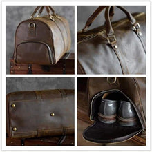 Load image into Gallery viewer, Crazy Horse Leather Travel and Duffel Bag Premium Leather