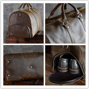 Crazy Horse Leather Travel and Duffel Bag Premium Leather