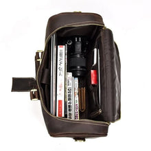 Load image into Gallery viewer, Crazy Horse Leather Travel and Laptop Duffle Bag Premium Leather