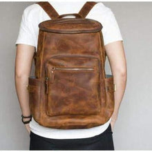 Load image into Gallery viewer, Crazy Horse Leather Travel Backpack / Knapsack