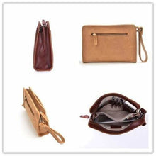 Load image into Gallery viewer, Crazy Horse Leather Wristlet/clutch Vintage Wrist Bag Premium Leather