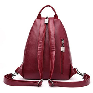 Cross Body Ladies Leather Backpack/tote and Travel Bag Premium Leather