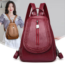 Load image into Gallery viewer, Cross Body Ladies Leather Backpack/tote and Travel Bag Premium Leather