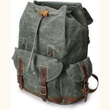 Load image into Gallery viewer, Custom Canvas Leather Laptop,backpack Premium Leather