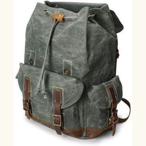 Custom Canvas Leather Laptop,backpack Premium Leather