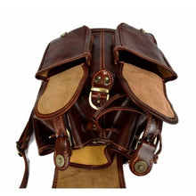 Load image into Gallery viewer, Dark Brown Authentic Italian Calf Leather Backpack and Travel Bag Premium Leather