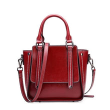 Load image into Gallery viewer, Designer de Luxe Leather Women's Hand & Crossbody Bag Red Premium Leather
