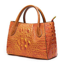 Load image into Gallery viewer, Deux Tons Leather Shoulder and Cross Body Bag 99199ah4orange Premium Leather