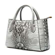 Load image into Gallery viewer, Deux Tons Leather Shoulder and Cross Body Bag 99199i4gray Premium Leather