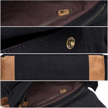 Load image into Gallery viewer, Dslr Camera Messagère Canvas Shoulder Bag Premium Leather