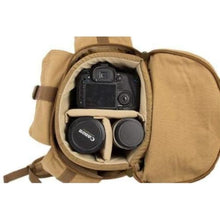 Load image into Gallery viewer, Durable Waxed Canvas Camera Backpack & Dslr Bag