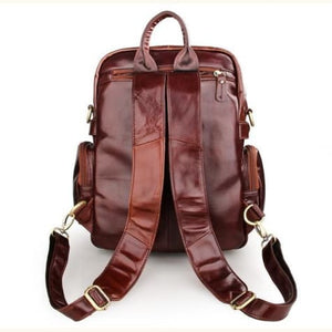 Eplesima' Authentic Leather Backpack Purse and Travel Bag Premium Leather