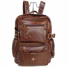 Load image into Gallery viewer, Eplesima' Authentic Leather Backpack Purse and Travel Bag Brown Premium Leather