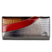 Load image into Gallery viewer, Evening Designer Leather Wallet and Clutch Purse Gray Premium Leather