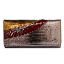 Load image into Gallery viewer, Evening Designer Leather Wallet and Clutch Purse Coffee Premium Leather