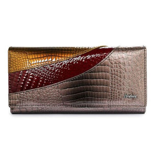 Evening Designer Leather Wallet and Clutch Purse Coffee Premium Leather