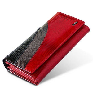 Evening Designer Leather Wallet and Clutch Purse Premium Leather