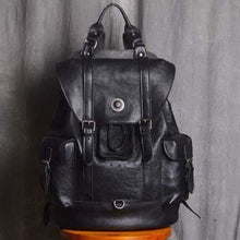 Load image into Gallery viewer, Everday Leather Backpack/laptop Bag / School Backpack Premium Leather