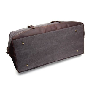 Fashion Canvas Leather Travel Bag/carry on Luggage Premium Leather