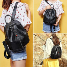 Load image into Gallery viewer, Fashion Leather Backpack/ Shoulder Bag for Ladies and Girls Premium Leather