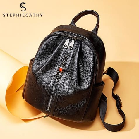 Fashion Leather Backpack/ Shoulder Bag for Ladies and Girls Premium Leather