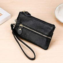 Load image into Gallery viewer, Fashion Vintage Authentic Leather Wrist Wallet Key Holder Housekeeper Clutch Premium Leather