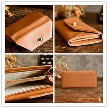 Load image into Gallery viewer, Fashionable Leather Clutch/handbag/wristlet in 2 Colors Premium Leather