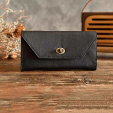 Load image into Gallery viewer, Fashionable Leather Clutch/handbag/wristlet in 2 Colors Black Premium Leather