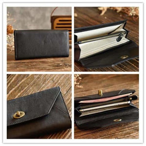 Fashionable Leather Clutch/handbag/wristlet in 2 Colors Premium Leather