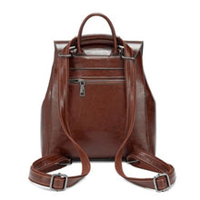 Load image into Gallery viewer, Feminine Oil Wax Leather Backpack Shoulder Bag Rucksack Premium Leather