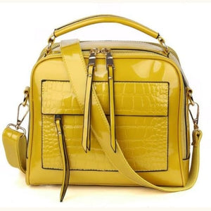 Femme Leather Designer Handbag/crossbody Bag for Women Yellow Premium Leather