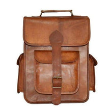 Load image into Gallery viewer, Forever Leather Backpack/travel Bag & Satchel Premium Leather