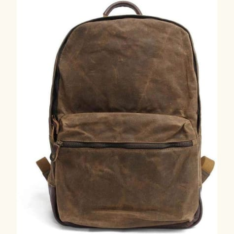Waxed Leather Backpack Travel Backpack, Premium Leather