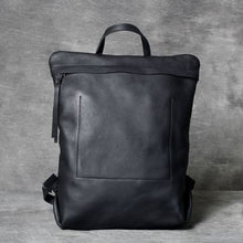 Load image into Gallery viewer, Full Grain Leather Anti Theft Backpack 14in Laptop Double Shoulder Bag Premium Leather