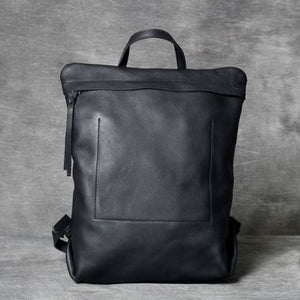 Full Grain Leather Anti Theft Backpack 14in Laptop Double Shoulder Bag Premium Leather